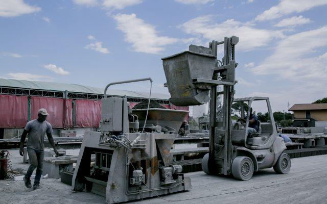Lavorazione cemento a Catania